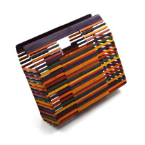 Square colored bamboo beach lady carrying bamboo bundle Dinner Bag single shoulder holding lady bag