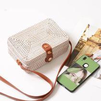 Handmade vine-braided beach grass-braided one-shoulder oblique Bag