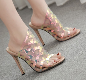 Mirage Film Laser Upper High-heeled Sandal