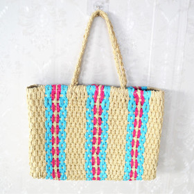 Paper string knitting beach bags and summer grass bags