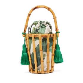 Handwoven Bag Bamboo Bag Hollow Out Tassel Handwoven Handbag  Model Show Handbag Ins Hot Summer Tote Bag 2019 New