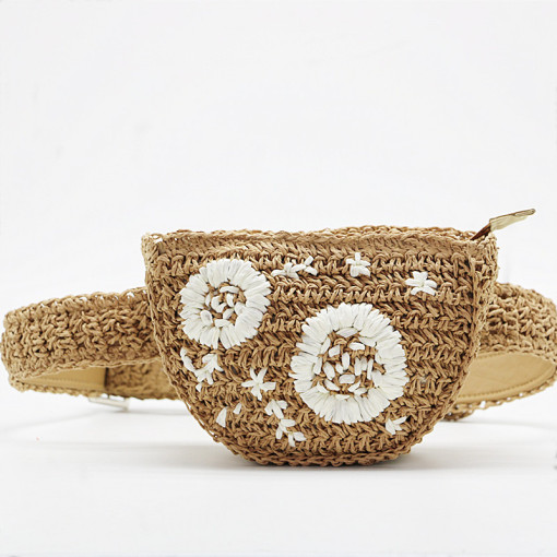Flower  Waist-bag straw knitting