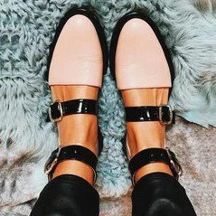 Metal buckled flat sole sandals