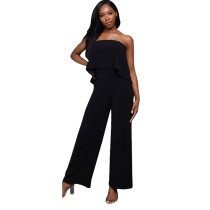 Breast-wrapped and back-bared  High waist pants