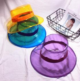 PVC transparent fisherman hat sunshade cap