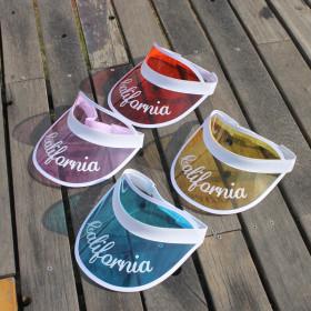 Transparent PVC sunshade cap
