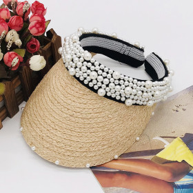 Lafita straw cap with empty top hairpin