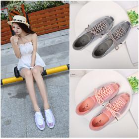Lace hollow cushion PVC women's single shoes