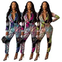 Sexy Fashion Digital Printed Couplet Pants for Women