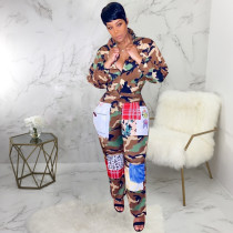 Sexy, fashionable self-cultivation camouflage printed pants