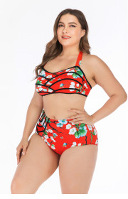 Big Bikini Bikini fat woman gathers big cup ladies swimsuit and swimsuit Onihua
