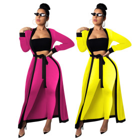 Pure color jacket trousers suit three-piece suit