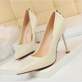 Fashionable Simple Fine-heeled Super-high-heeled, Shallow-mouth Point Sexy Night Club Slim High-heeled Single Shoes