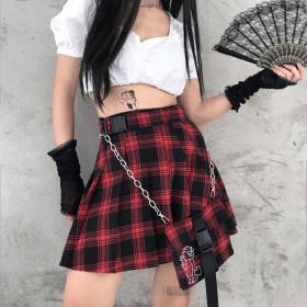Japanese JK uniform plaid skirt knitted pleated skirt