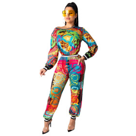 Long sleeve T-shirt printing suit