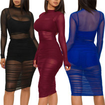 Screen dress + Vest + shorts