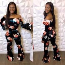 Sexy Fashion Shoulder print pants