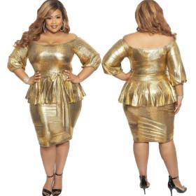Two-piece buttock skirt sequined dress dress evening dress