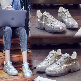 Heightening sneaker Muffin Diamond shoe