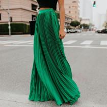 Mid high waist pleated skirt