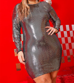 Fashionable large Sequin dress