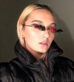 Fashion Cool Unique Future Style Fire Flame Shape Sunglasses Women Rimless Brand Design Sun Glasses Oculos De Sol
