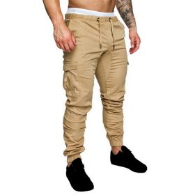 New 2020 Casual Joggers Pants Solid Color Men Cotton Elastic Long Trousers Pantalon Homme Military Cargo Pants Leggings