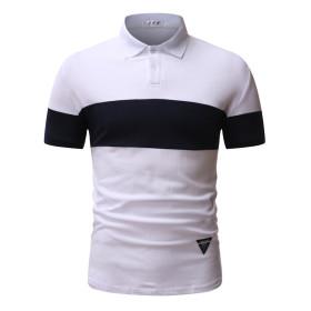 Stretch cotton men's short sleeve top T-shirt