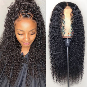 Cynosure 13x4 Lace Front Human Hair Wigs for Black Women Remy Brazilian Kinky Curly