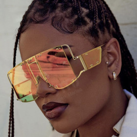 Oversized Sunglasses Women 2020 Sunglasses Men Vintage Sunglasses Luxury Retro Square Mens Sunglass Rihanna  Sun Glasses