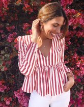 A-shaped doll top with classic stripes and sweet