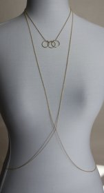 Sexy Fashion Circle Pendant Necklace Simple Bikini Beach Body Chain