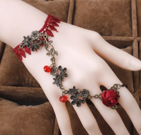 Lace bracelet with ring