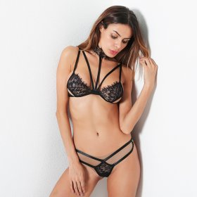 Sexy lingerie suit collar lace stitching