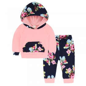 Cotton Print Hooded Set