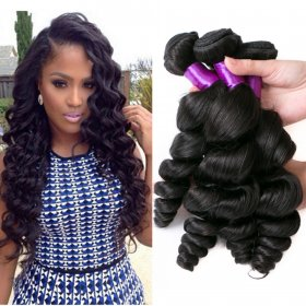 India loose wave live hair curtains