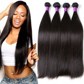 Natural color Brazil straight hair curtain