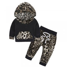 Leopard girl two sets of infant clothing