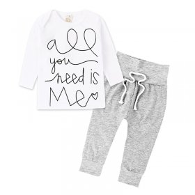 Stretch cotton trousers long sleeves somersault cap suit