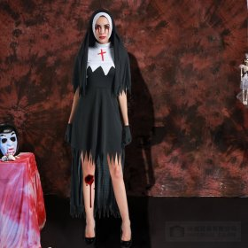 Halloween female adult nuns irregular dress