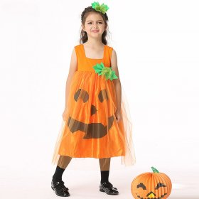 Children's dress set pumpkin Costume