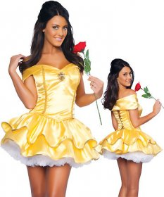 The Yellow Princess Belle fairy Maid uniform play clothes