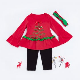 Christmas Baby jacket underpants set