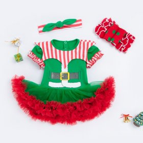 Three pieces of baby dress for Christmas Dress