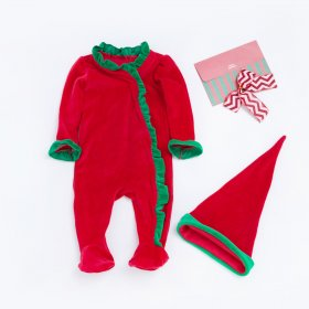 Christmas sleeve One-piece garment