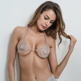 Sexy bra accessories handmade diamond chain