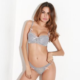 Lace hook flower butterfly knot sexy lingerie