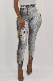 Sexy color changing sequins Pants