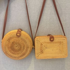 Handmade vine-braided beach grass-braided one-shoulder oblique Bag