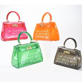 Fashion Jelly Bag Simple Single Shoulder Slant Handbag